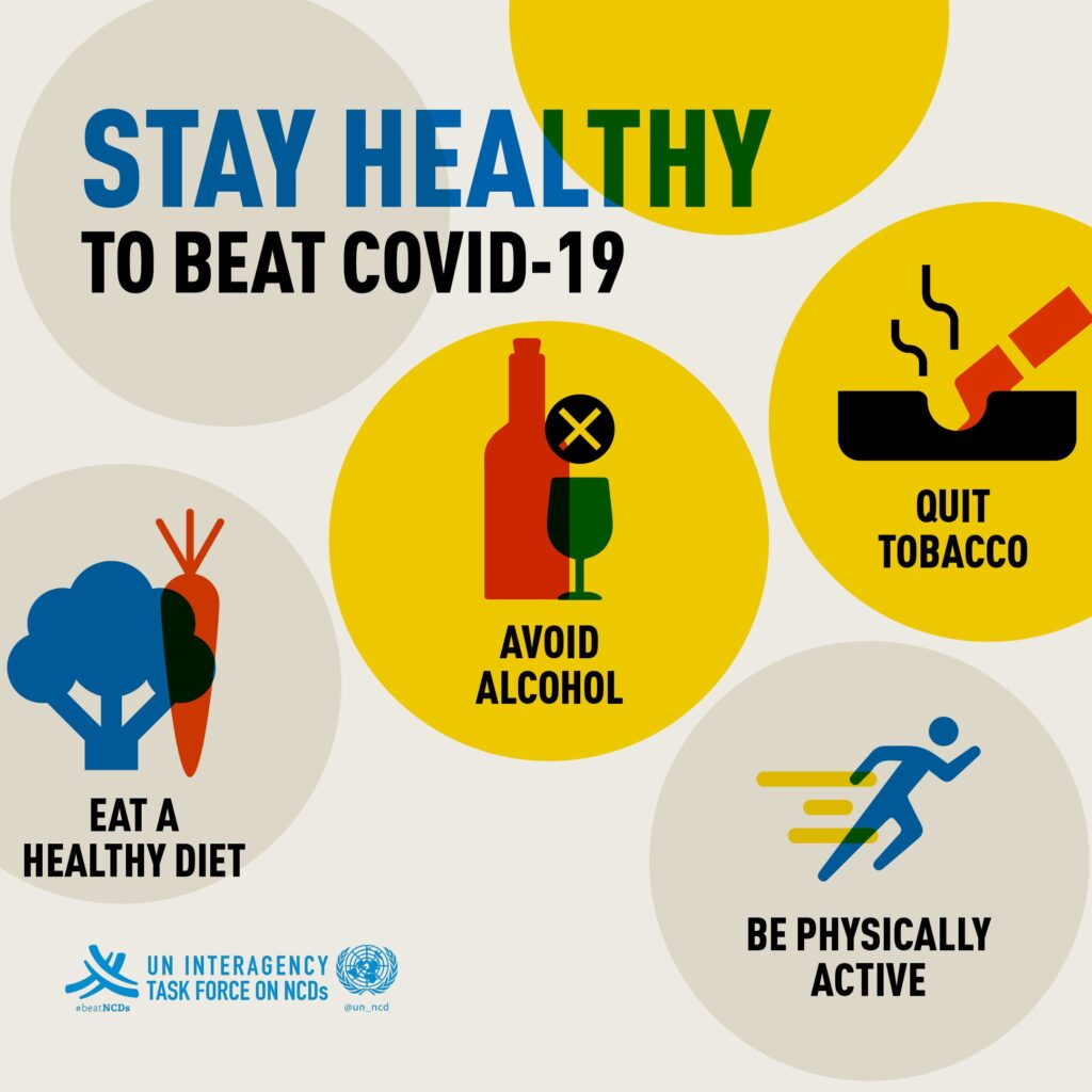 Stay healthy to beat #COVID19