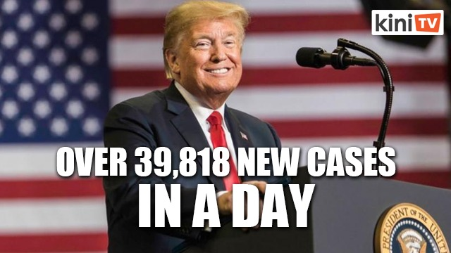 US reports more than 39,818 new Covid-19 cases in a day