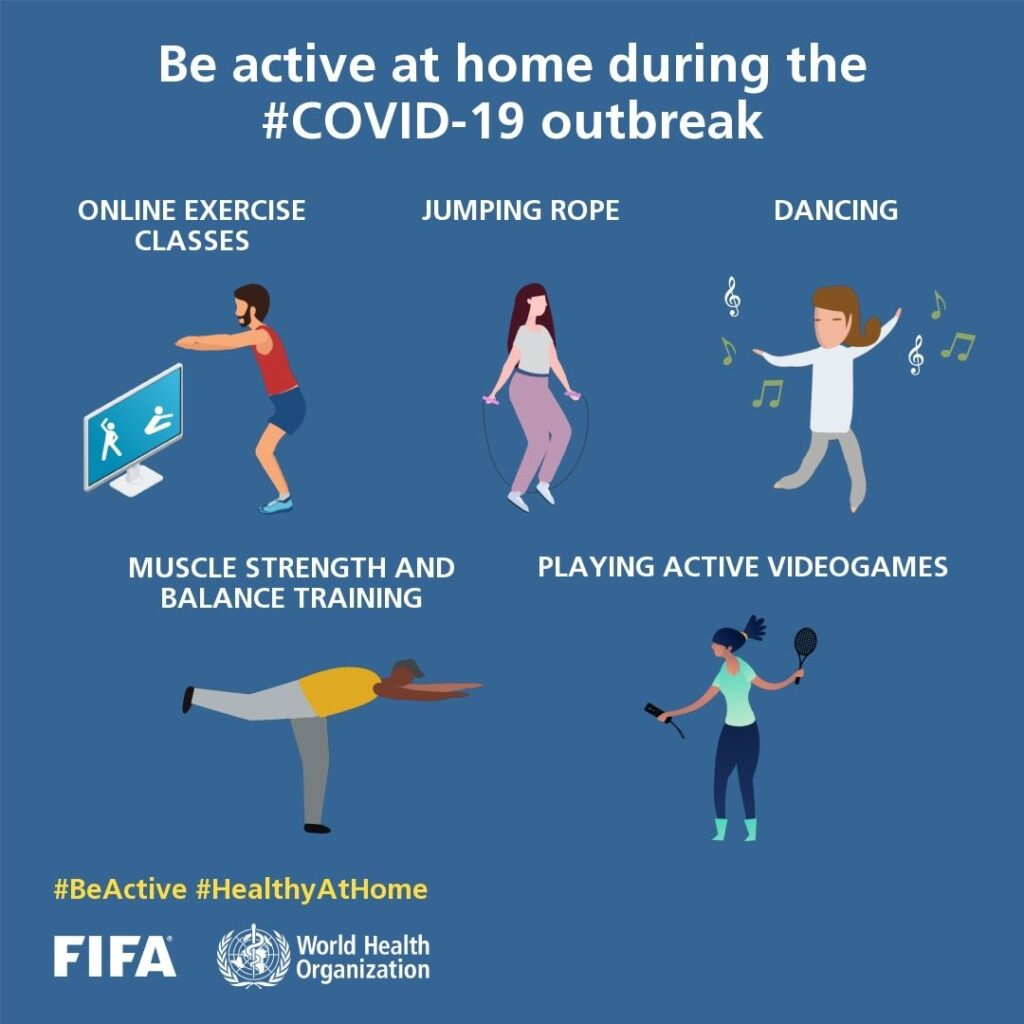Be active & Stay #HealthAtHome