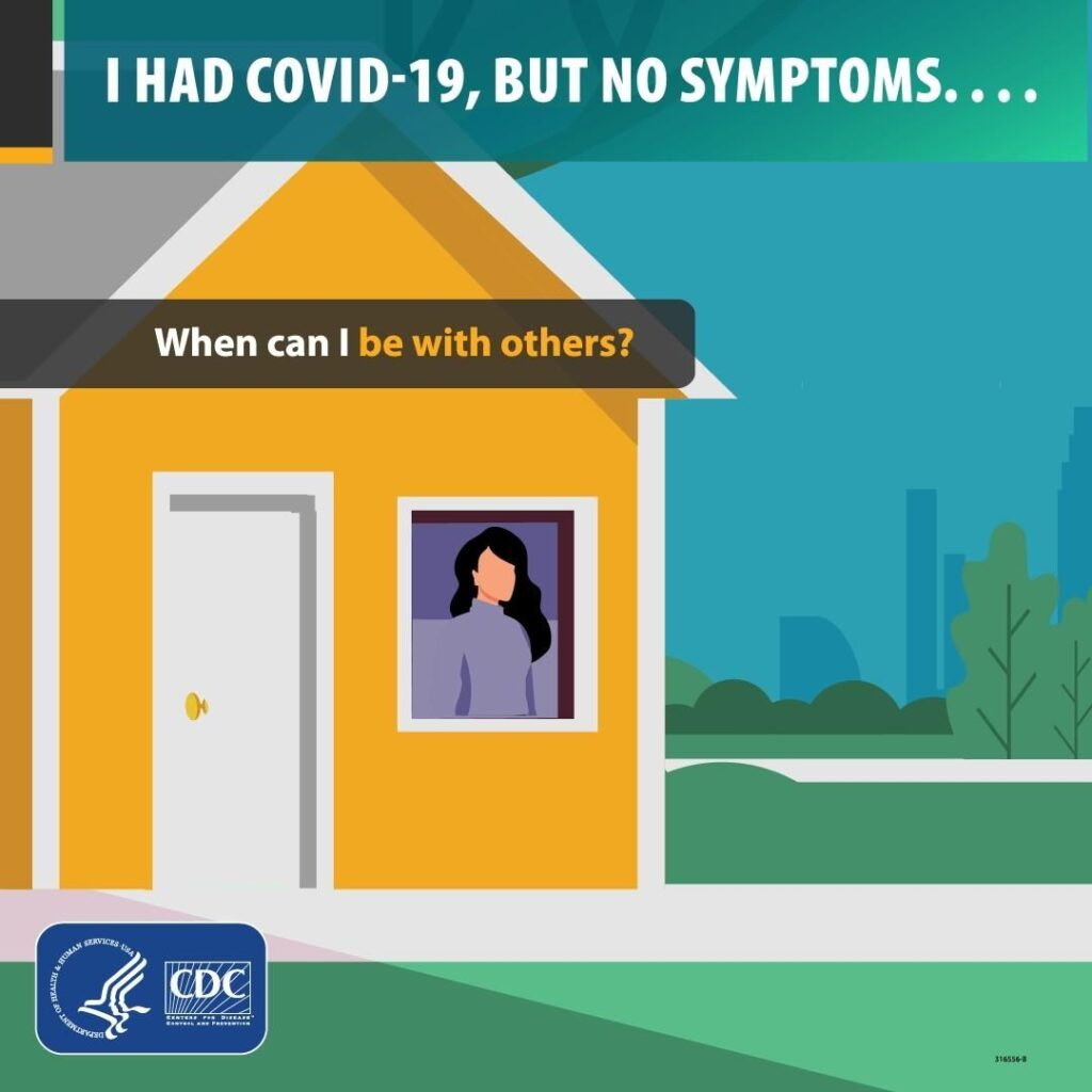 If you tested positive for COVID-19, no symptoms