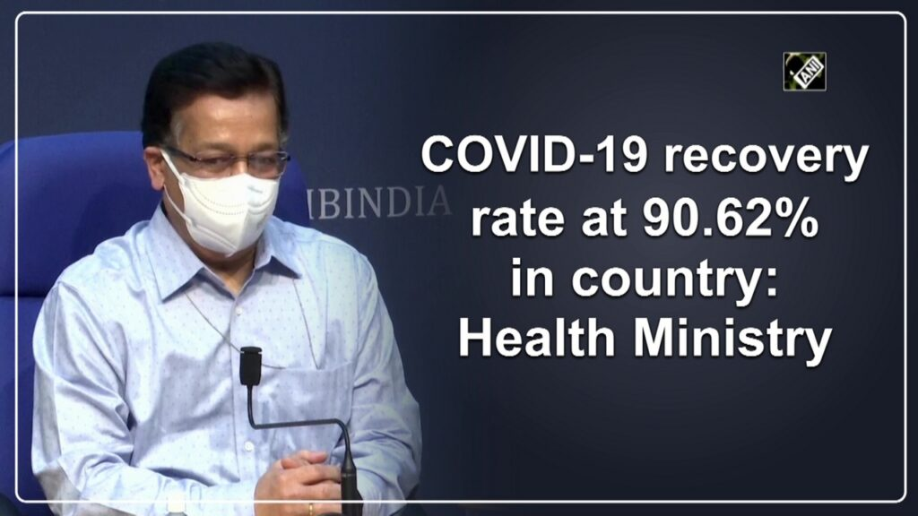 Covid-19 recovery rate at 90.62% in country: Health Ministry