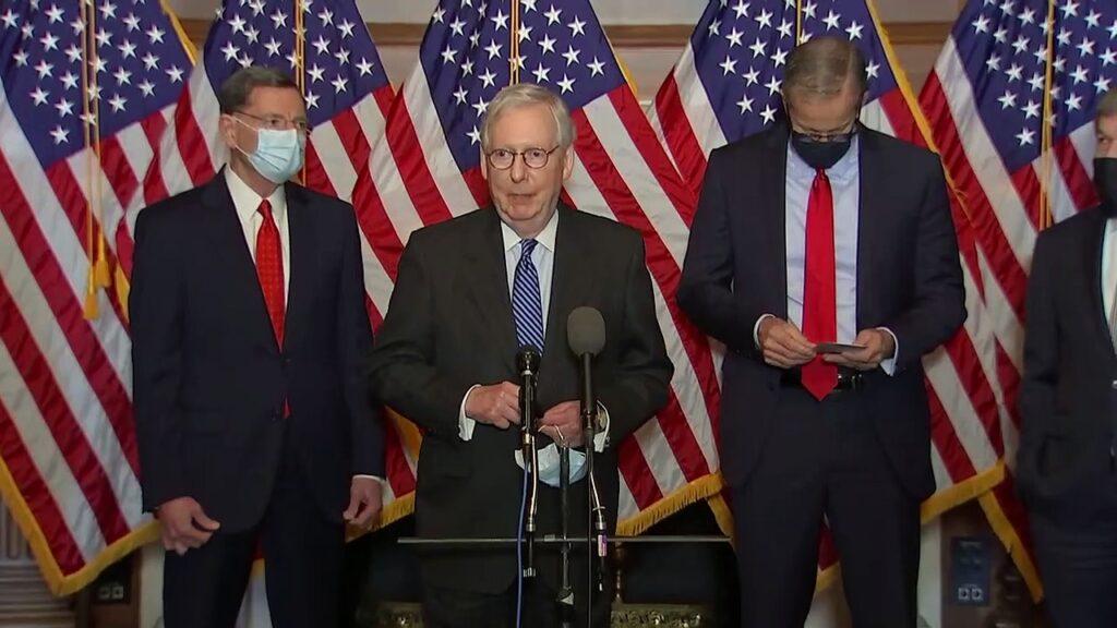 McConnell, Senate Republicans discuss COVID-19 relief